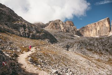 Wanderer in den Dolomiten