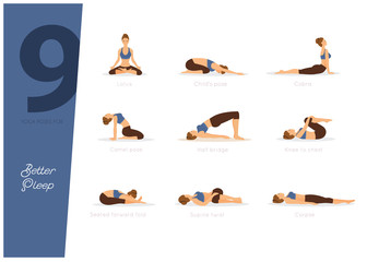 9 yoga poses for better sleep