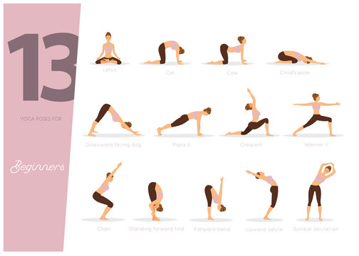 13 Yoga poses for beginners