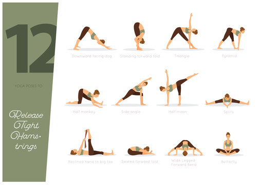 12 Yoga poses to release tight hamstrings