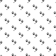 Wolf step pattern seamless vector repeat geometric for any web design