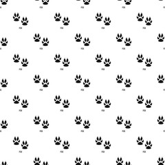 Fox step pattern seamless vector repeat geometric for any web design