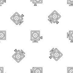 Action camera pattern seamless vector repeat geometric for any web design