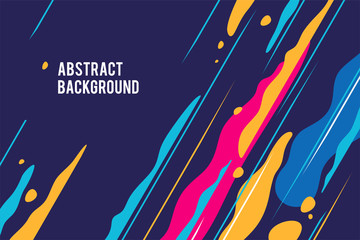 Trendy abstract design, colored dynamic background. Applicable for placards, brochures, posters, covers and banners. Vector illustration.