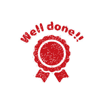 rubber stamp icon (for teachers using at school) / Well done!!