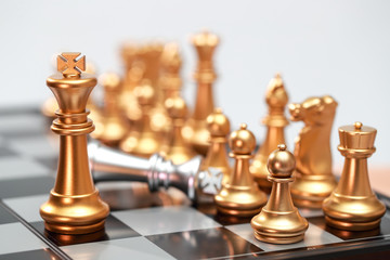 Chess business idea for competition, success and leadership concept..