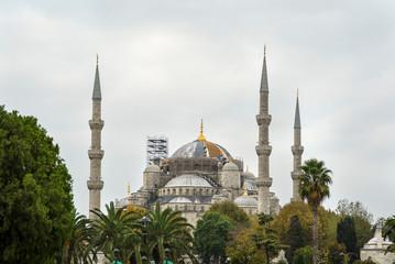The bue mosque in Sultanahmet in Istanbul. Sultanahmet camii