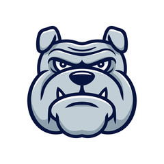 Head angry bulldog mascot