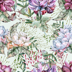 Background of roses. Seamless pattern.