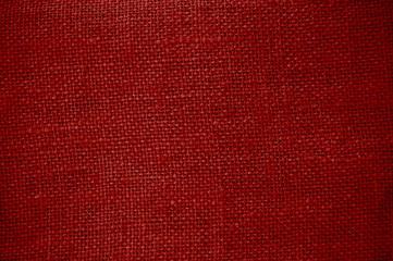Roter grober Stoff als rustikale Textur