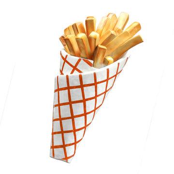 Cornet de frites (factice) / French fries box