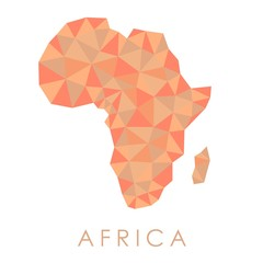 Low-Poly Africa map