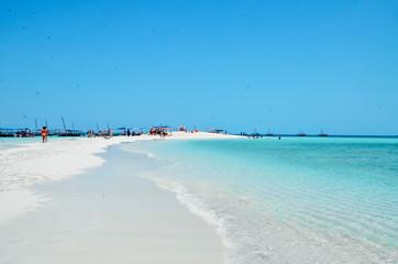 Paradise island ocean blue sea white sand blue sky