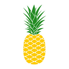 Pineapple icon. Tropical fruit. Ananas print. Vector illustration.