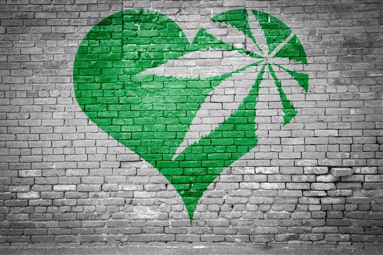 I love Weed / Cannabis Graffiti