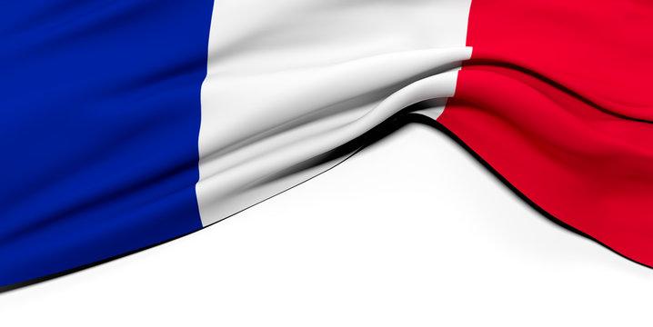 Drapeau Français plissé