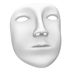 Mask in the white background. 3D Illustration.