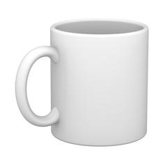 Mug in the white background. 3D Illustration.