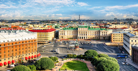 Saint Petersburg cityscape at day, Russia