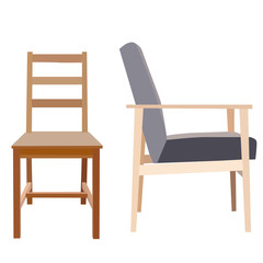 on white background chairs