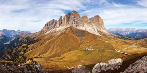 Rock Masiff in Dolomite Mountains