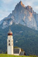 Tyrolean church with a clocktower