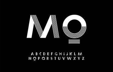 minimal modern alphabet. Typography trandy font uppercase. vector illustrator