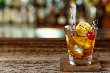 Classic, American cocktail, old-fashioned