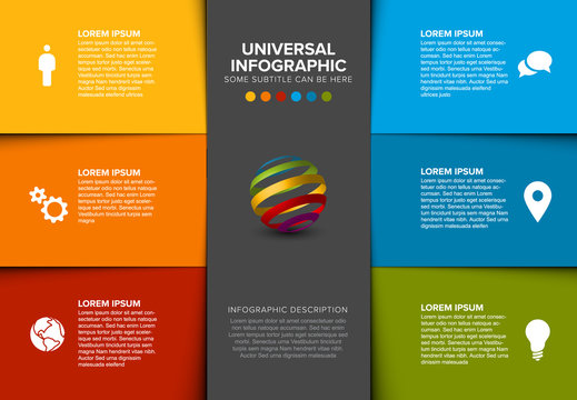 Vector multipurpose Infographic template