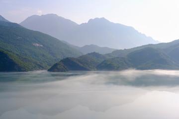 Albania, Shokdra, Dam Liqeni i Vaut te Dejes in the morning