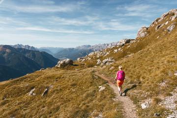 Wanderer am Col Rodella