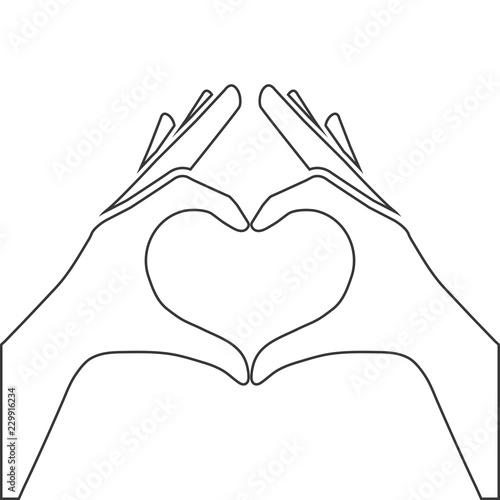 hands making or formatting a heart stock image and royalty free