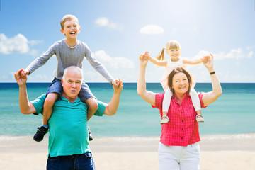 Grandparents Having Fun With Their Grandchildren