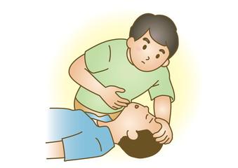 応急手当イラスト08:急病・意識障害