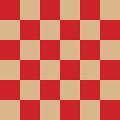 Checkered seamless pattern. Square geometric background. Vector illustration.