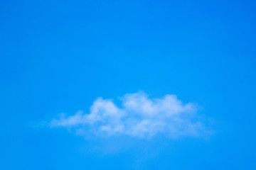 Clouds in the air floating alternately in various shapes.