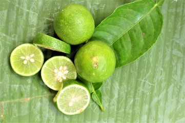Fresh lime. Fruits and vegetables