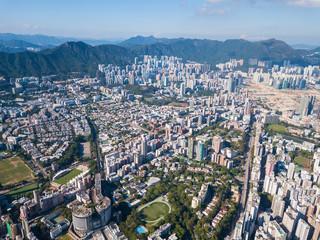 Kowloon side of Hong Kong city