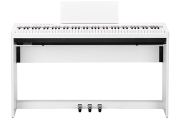 white piano isolated