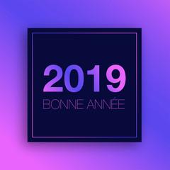 2019 bonne année sur fond dégradé