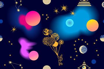 Colorful nebula print.