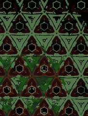 Motif de décoration composé avec des polygones dans des tons de la nature