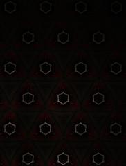 Motif de décoration composé avec des polygones