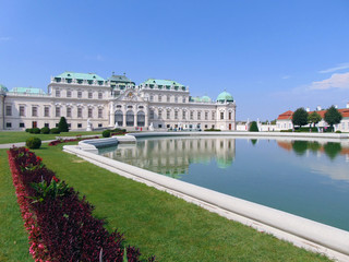 view of the upper Belvedere in Vienna