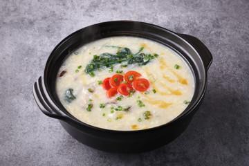 Japanese egg soup pot