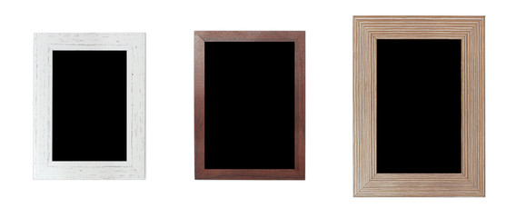 3 new color frames 3 sizes, white, light brown, dark brown Can be composed of works or images.