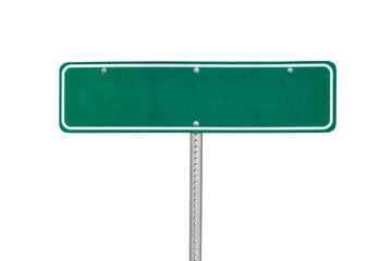 Blank green directional arrow sign isolated on white. Fotoväggar