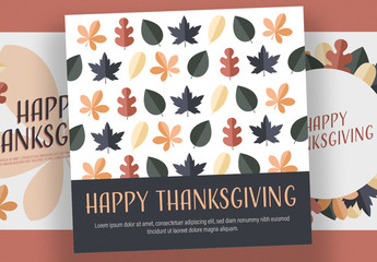 Thanksgiving Social Media Post Layout Set