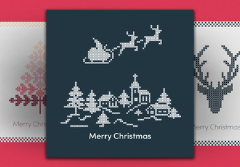 Christmas Social Media Post Layout Set