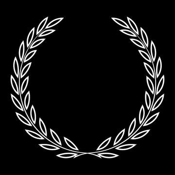 icon laurel wreath, spotrs design